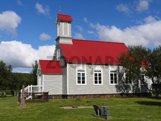 Die alte Kirche von Reykholt in Island