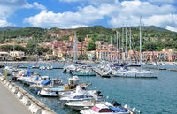 Village of Rio Marina on Island of Elba,Tuscany,mediterranean Sea,Italy