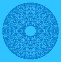 Abstract radial shape