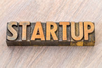 startup word in wood type
