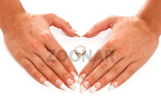 Hands and ring