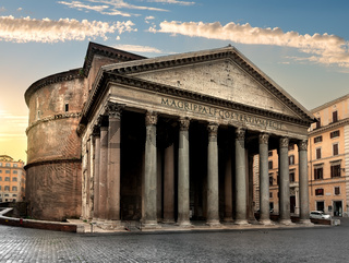 Pantheon in Rome at sunrise