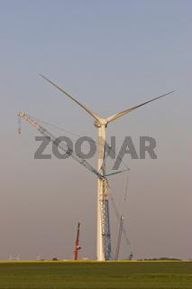 Bau eines Windrades