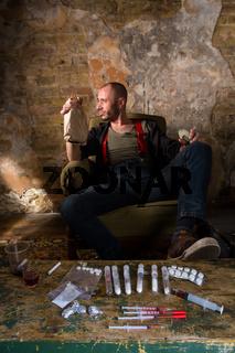 Drug dealer showing money