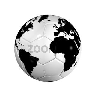 Soccer football ball World globe