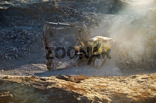 Construction site machinery