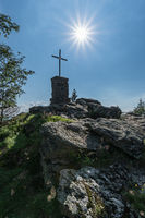 Summit cross Mt. Falkenstein