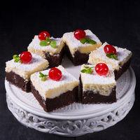 chocolate cream cake with cherries