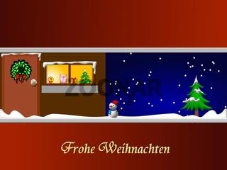 Hintergrund Frohe Weihnachten mit Weihnachtsmotiv