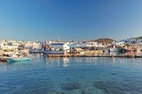 The port of Naousa in Paros, Greece