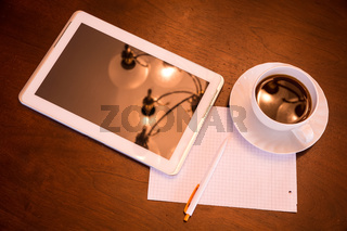 Classical Coffee and Tablet PC