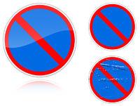 Variants a No parking - road sign