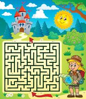 Maze 3 with scout girl