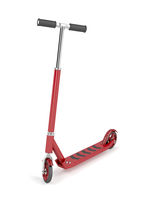 Red kick scooter
