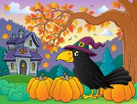 Witch crow theme image 4 - picture illustration.