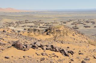 Geisterstadt, Erg Chebbi, Marokko, Afrika