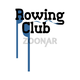 Vector sign for rowing club