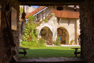 Befestigte Kirche in Calnic