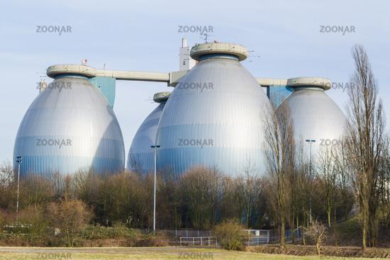Large production plant biogas