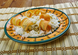 Turkish pilaf with carrots