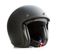 Open face motorcycle helmet.