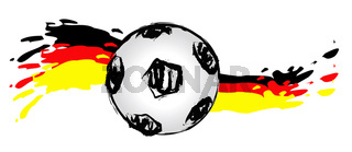 German soccer ball wave 01