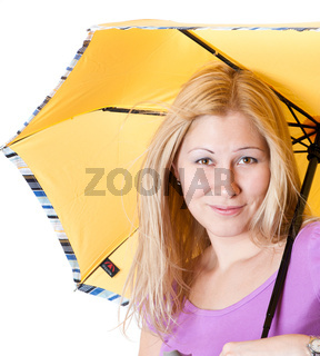 Portrait of a girl with an umbrella