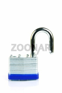 Security padlocks isolated against a white background