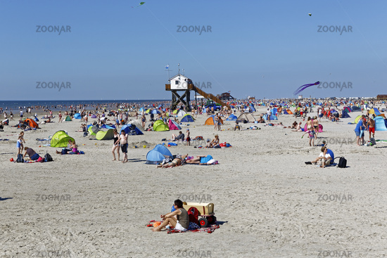Beach, St Peter-Ording, North Frisia, Schleswig-Holstein, Germany, Europe