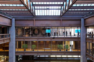 Inside the Ford Foundation Building in New York