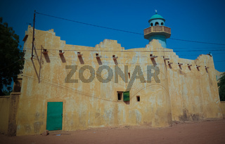 Exterior view to Grand mosque of Zinder , Niger