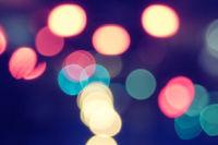 City lights blurred bokeh shot, defocused background