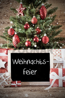 Nostalgic Tree With Weihnachtsfeier Means Christmas Party