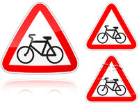 Intersection with the bike road - road sign