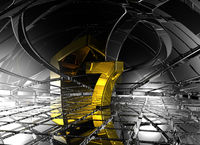 nummer sieben in futuristischer umgebung - 3d illustration