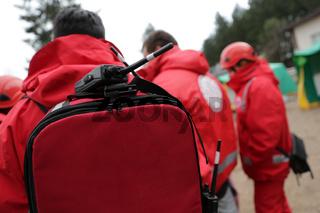 Paramedics mountain rescue service Portable Radio