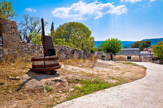 Skrip village on Brac island street view