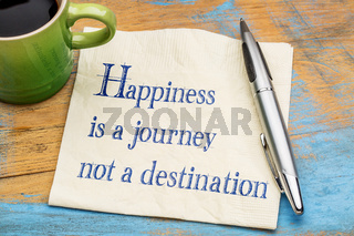 Happiness is journey, not destination