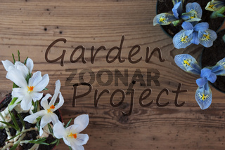 Crocus And Hyacinth, Text Garden Project