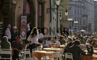 Tschechien, Prag, Praha, Altstaedter Ring, Strassencafes