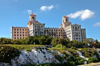 Havana, Cuba - December 11, 2016: The historic Hotel Nacional de Cuba Havana