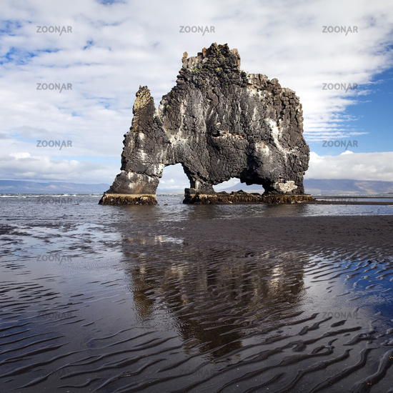 basalt stack Hvitserkur, Vatnsnes, Iceland