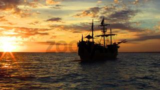 Piratenschiff in der Dominikanischen Republik