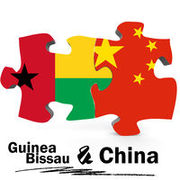 China and Guinea Bissau flags in puzzle