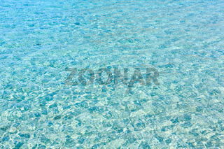 Sea flowing water surface