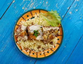 Moroccan Couscous-Stuffed Chicken