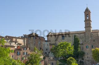 Montepulciano, historische Stadt der Renaissance, Außenansicht , Toskana, Italien