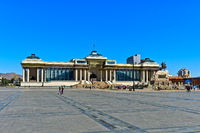 Sukhbaatar Square with State Parliament House, Ulaanbaatar, Mongolia