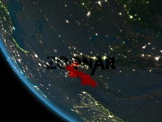 Tajikistan at night from orbit