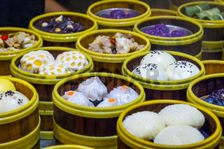 Traditional chinese steamed buns